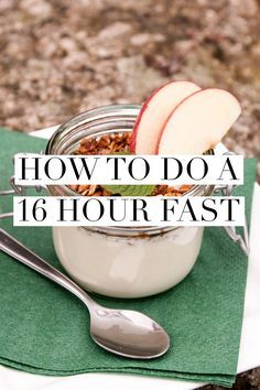 16 hour fasting, also called 16:8 or the 8 hour diet involves a daily fast, avoiding food and calorie laden drinks for 16 hours, and then eating in an 8 hour window.