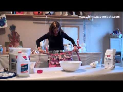 How 2 Make Paper Mache Clay She has a great idea for the toilet