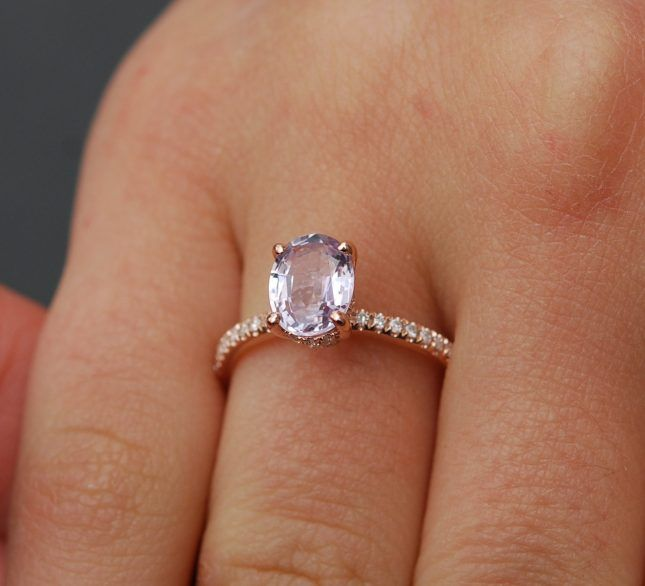 If you thought it could get any better than a 1.6-carat lilac sapphire with a diamond eternity band, think again.