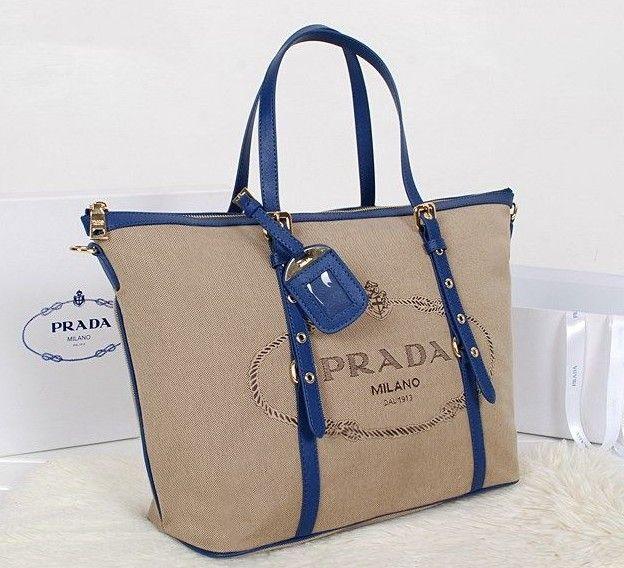 2014 Latest Prada Jacquard Nylon Fabric Tote Bag blue,Prada bags 2014