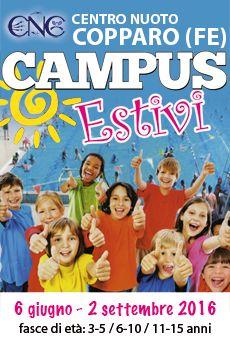 Campus Estivi - bambini/ragazzi: 3-5/6-10/11-15anni. Tutti i tuoi eventi su ViaVaiNet, il portale degli eventi più consultato per il tempo libero nella provincia di Rovigo e nella Bassa Padovana