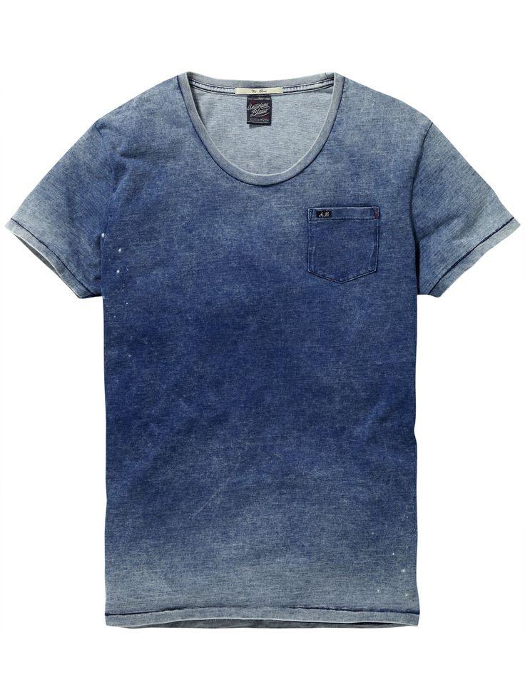 Indigo T-shirt | T-shirt s/s | Mannenkleding bij Scotch & Soda