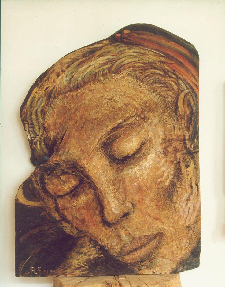 Monica  oil on carved oak