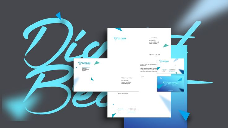 Branding of Bizzon Studio  #corporateidentity #branding #bizzonstudio