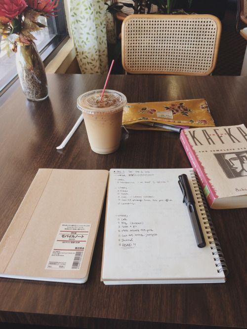 "iwasborntostudy: "" Journaling + chilling """