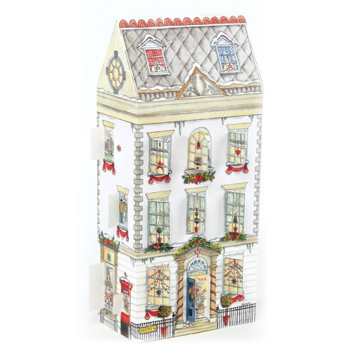 ADV24 Christmas Townhouse Advent Calendar by Phoenix Trading. Open a window each day to see what is behind. Only £7.50 and can be ordered at www.nichola.cards