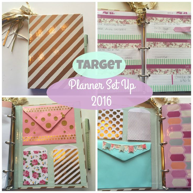 ||| TODAYS VIDEO ||| TARGET PLANNER SET UP | 2016 Target Binder – Dollar Spot $3.00 Inserts – Dollar Spot $3.00 each Gold Tassel – Michaels Craft Store $1.50...