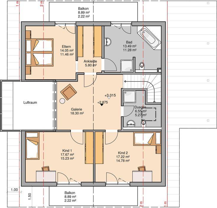 Kern-Haus Familienhaus Luce Grundriss Dachgeschoss