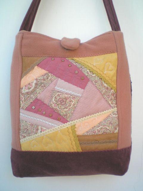 ÁRESÉS! 50% Crazy patchwork női táska 16.000 Ft helyett 8.000 Ft-ért, Táska, Válltáska, oldaltáska, Meska