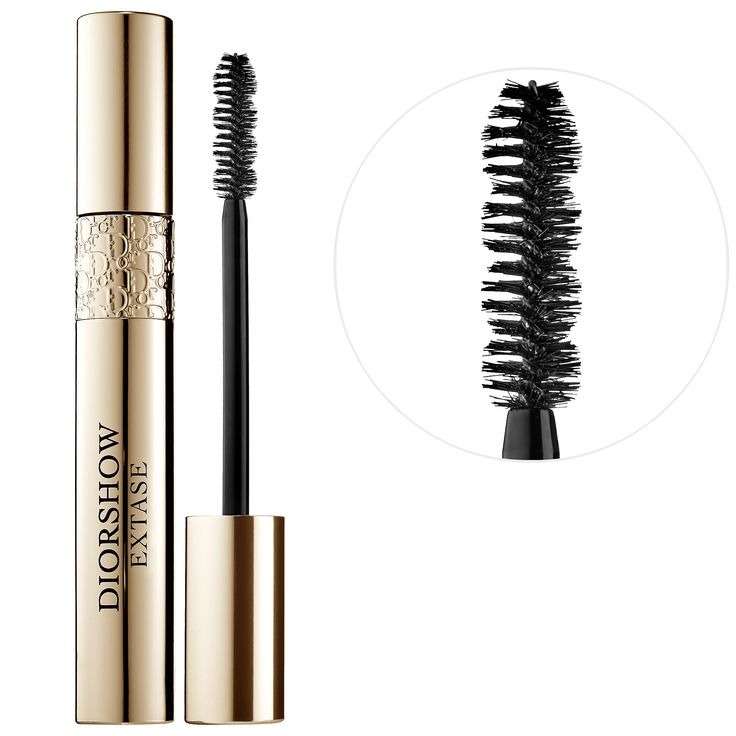What it is:A mascara that plumps lashes inside and out.What it does:Diorshow Extase provides built-in treatment benefits and high-impact lashes in a single stroke! The spherical-shaped Black Pearl Pigments create a 3D volume effect and the exclusive