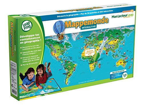 Leapfrog – 80885 – Jeu Educatif – Carte Mon Lecteur Leap/Tag – Mappemonde Interactive (stylo lecteur Tag non inclus): Apports éducatifs:…