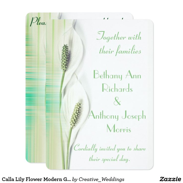 18 best Calla Lily Wedding Invitations images on Pinterest | Calla ...