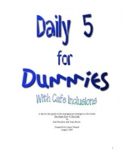 Daily 5 For Dummies 1 Daily Five Pinterest Each
