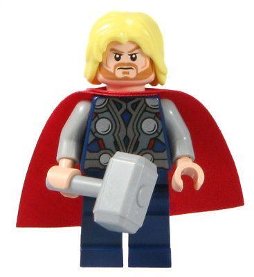 LEGO 6868 6869 Marvel Avengers Super Heroes Thor Minifig Minifigure #IWantOne