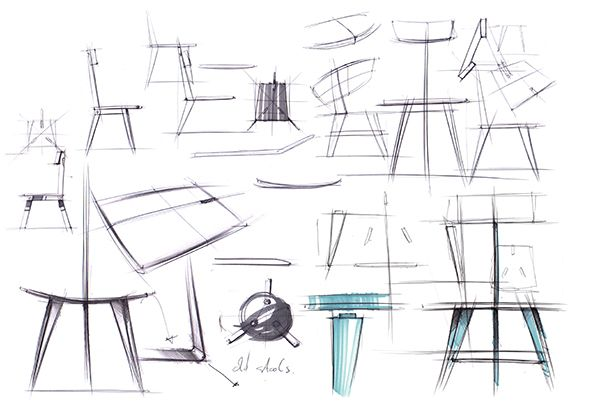 Sedia3 hand sketches