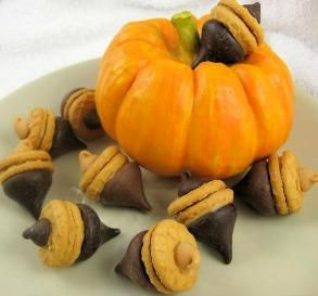 Nutter Butter Acorns: These adorable little acorns are not only delicious, but also easy to assemble. Kids will love making (and eating) these fall treats!