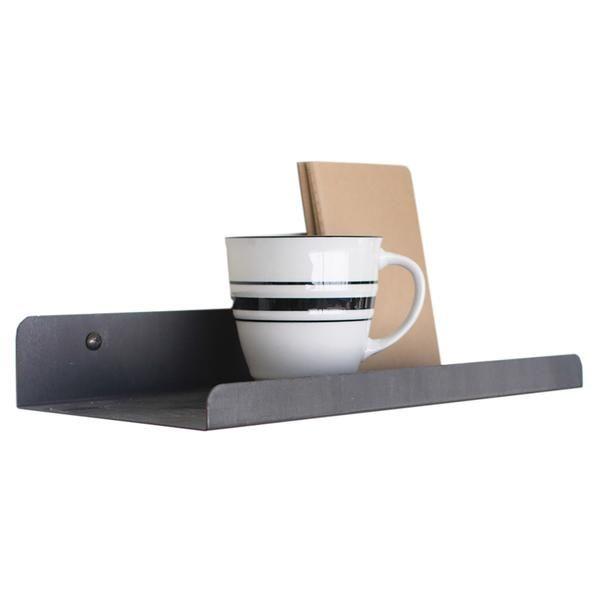 small industrial modern metal wall ledge shelf d i y d e. Black Bedroom Furniture Sets. Home Design Ideas