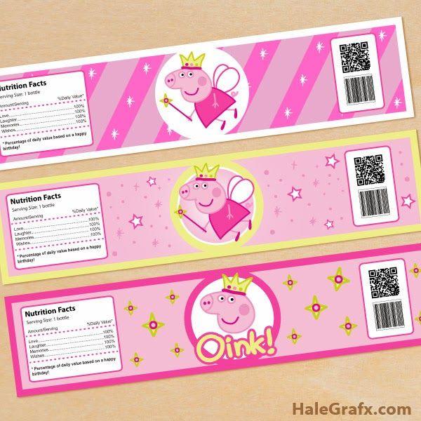 Descarga en alta calidad.   Mini Kit dePeppa Pig Hadapara Imprimir Gratis .   Contiene etiquetas, invitaciones y toppers para cupcak...