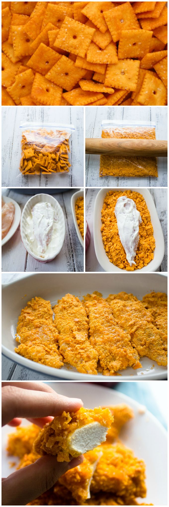 Cheese Nips Crusted Chicken Tenders Great idea for those left over preschool snacks!