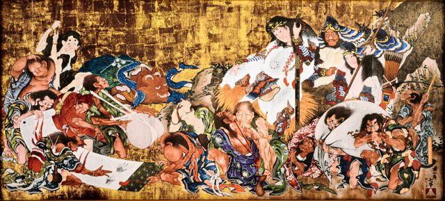 浮世絵師の葛飾北斎(1760~1849)が晩年に描いた幻の大絵馬「須佐之男命厄神退治之図(すさのおのみことやくじんたいじのず)」