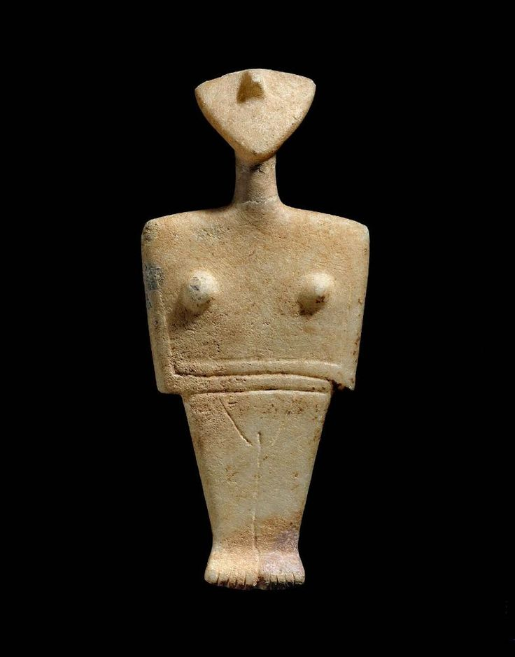 Female figure, Chalandriani type      Early Aegean, Cycladic, about 2300–2000 B.C.
