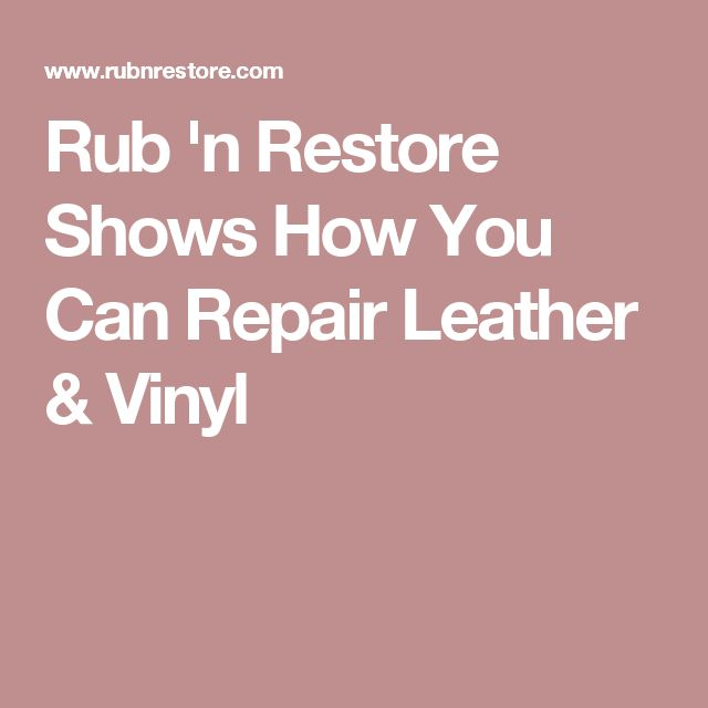 1000 Ideas About Leather Repair On Pinterest Leather