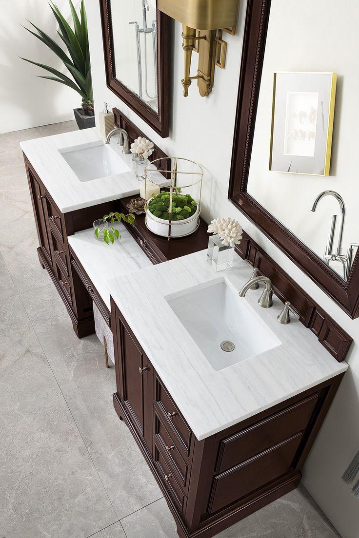 "82"" De Soto Burnished Mahogany Double Sink Bathroom Vanity"