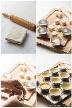 La recette des pastéis de nata, les petits flans traditionnels portugais, comme à Lisbonne!