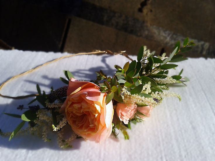 Bride Wreath with Roses Lavender