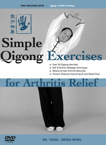 """In China, the ancient art of Qigong has been practiced for centuries to relieve, heal, and prevent arthritis. """"Qigong"""" means  energy work', and it is the practice of using the mind to naturally develop and circulate the body s Qi energy for improved health, vitality, and longevity. In this program, Dr. Yang, Jwing-Ming and senior student Ramel Rones demonstrate over 30 simple and effective qigong exercises to relieve arthritis pain and rebuild th..."""