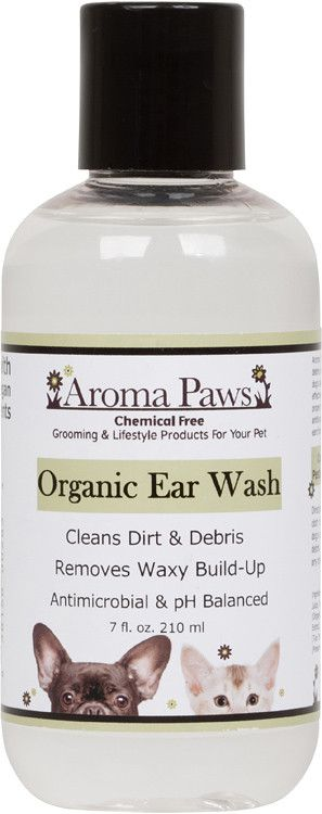 Keeping your dog's ears clean is an effective way to keep them out of the vet. Aroma Paws Organic Ear Wash cleans dirt & debris and removes waxy build-up from your dog's ears. This all natural formula