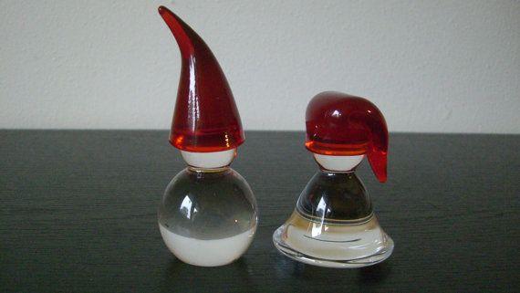 Vintage Hadeland Glass Nisse Snowmen Tomten Gnome Christmas Elf Child on Etsy, $45.00