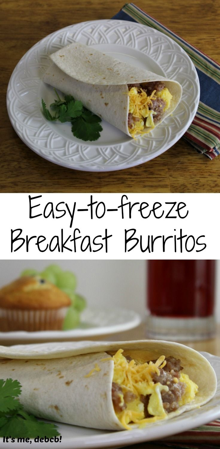 Easy-to-freeze Breakfast Burritos | Recipe | To be ...