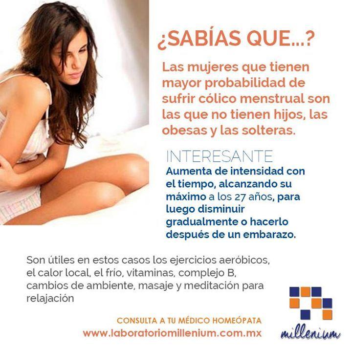 #CÓLICO Puede acompañarse de abundante menstruación o asociarse con depresión severa.