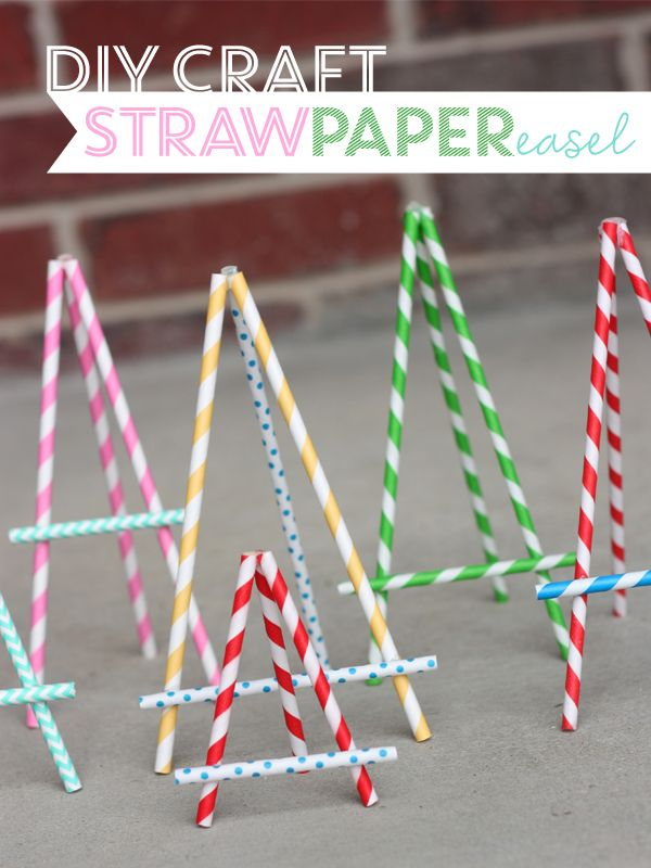 DIY Craft: Straw Paper Easel ~ Great for a paper-size sign or make smaller ones for buffet table or place cards.