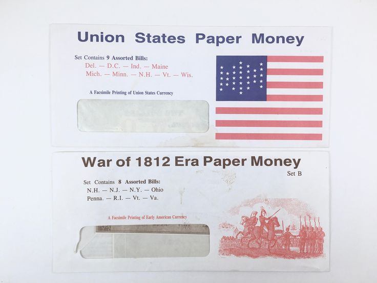 Early American Currency Facsimile, War of 1812 Era, Union States Paper Money, Gettysburg, PA, Vintage Paper Bills by BarnabyGlenVintage on Etsy