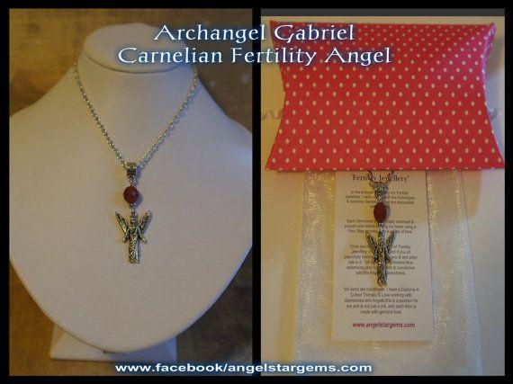 1x Archangel Gabriel Carnelian Fertility Angel by AngelStarGems, $13.95