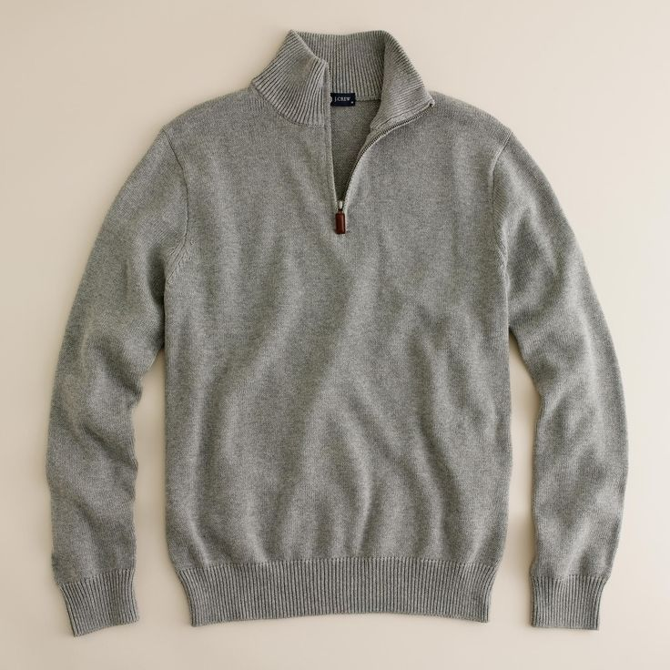 Shop the Cotton-Cashmere Half-Zip Sweater at JCrew.com and see the entire selection of Men's Sweaters.
