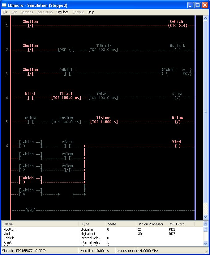 Ladder Logic for PIC and AVR