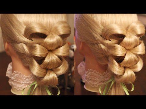 """Причёска на резинках - """"Лилии"""" - YouTube"""
