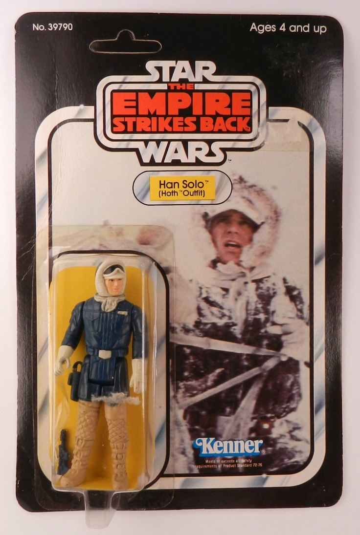 Kenner Star Wars Toys : Han solo in hoth outfit episode v kenner star