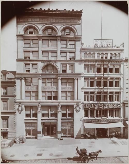 FAO Schwarz Toy Store, NYC, 1899 Gilded Age. Store started in Baltimore, Md. in c.1862, moved to NYC in c.1870. Who Knew ?????