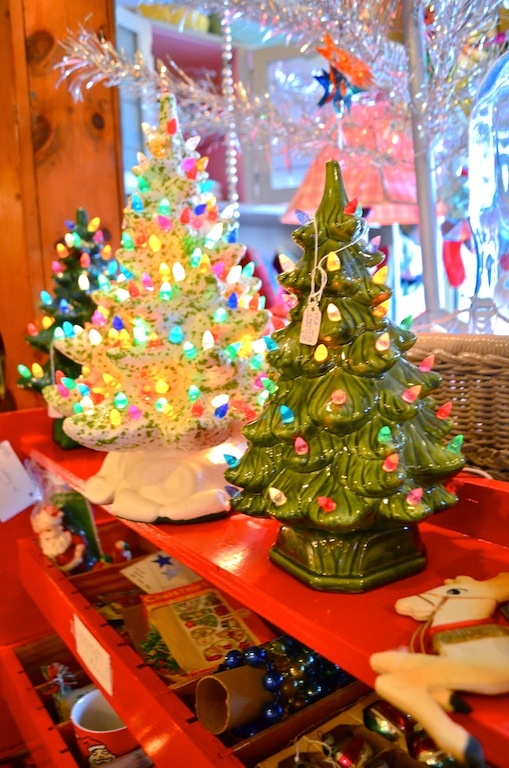 Vintage ceramic Christmas Trees... Remember when?