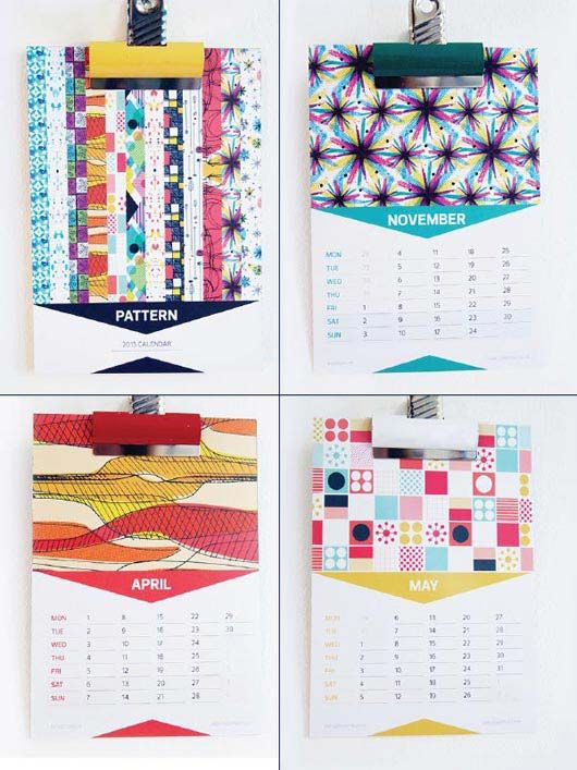 2013 calendar design-----like the triangles in months