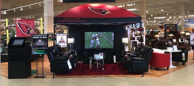 Calling all Arizona Cardinals fans, enter for your chance to win tickets to the next home game! Visit one of our two AZ stores to enter our Best Seats in the Nest sweepstakes for your chance to win tickets and much, much more! For more information and official rules please go to https://afw.com/cardinals. Invite