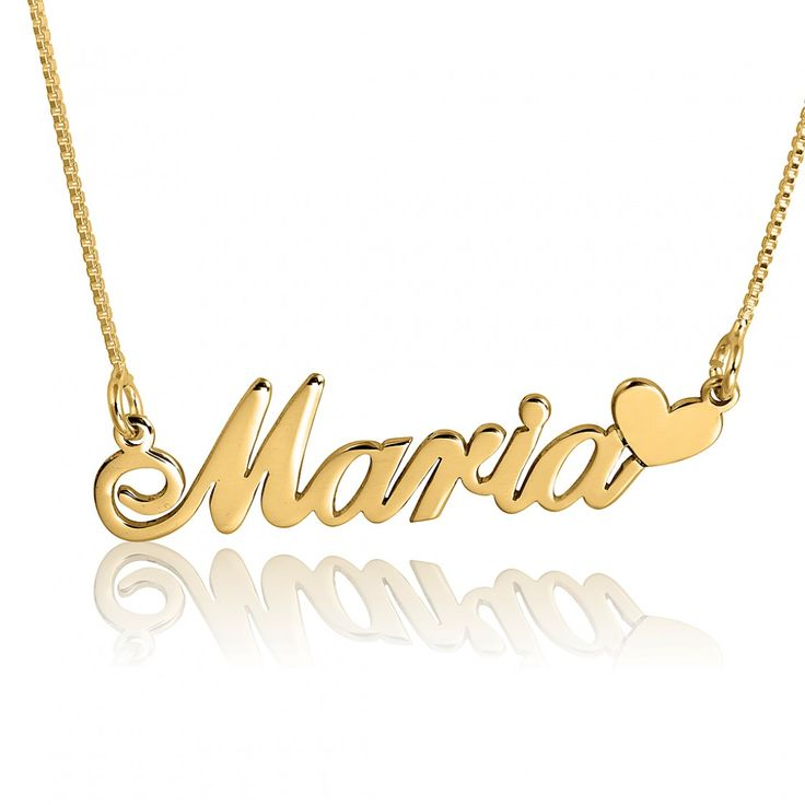 10 best 14k gold personalized jewelry at namefactory images on 14k gold maria style hearts name necklace aloadofball Images
