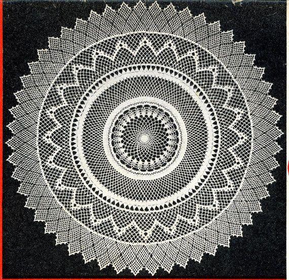 PDF Crochet PATTERN Vintage Armenian Lace Doily by BlondiesSpot, $2.99
