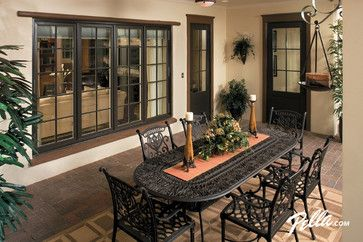 Pella® Architect Series® hinged patio doors provide classic good looks - Tropical - Patio - Other Metro - Pella Windows and Doors