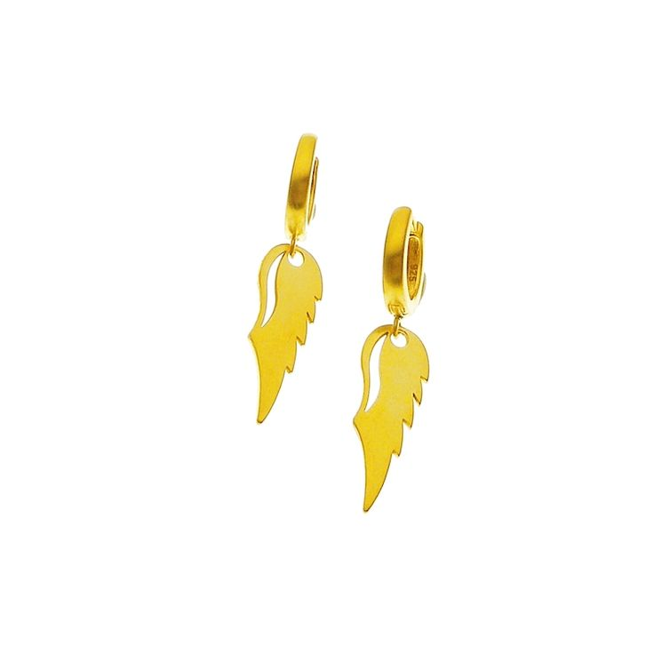 Eagle earrings in gold plaited – Χειροποίητο κόσμημα e-shop – Handmade Jewellery Online
