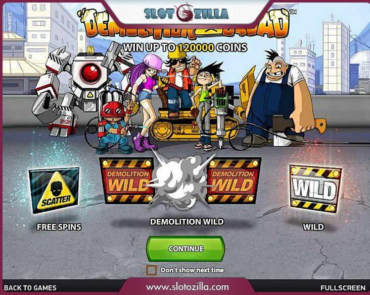 Demolition Squad free #slot_machine #game presented by www.Slotozilla.com - World's biggest source of #free_slots where you can play slots for fun, free of charge, instantly online (no download or registration required) . So, spin some reels at Slotozilla! Demolition Squad slots direct link: http://www.slotozilla.com/free-slots/demolition-squad